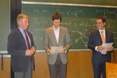 Presentation of the certificate to Nicola Gigli and László Székelyhidi