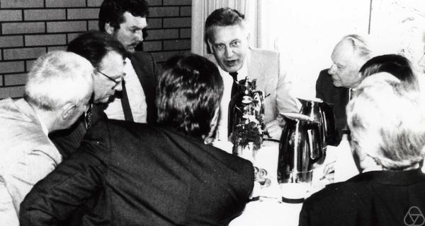 Albrecht Dold, unknown person, Heinz Kunle, Lothar Späth, Jürgen Nowak, Karl Peter Grotemeyer, Martin Barner