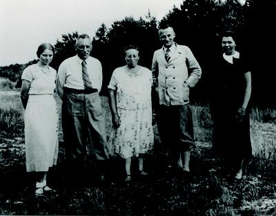 Emmy Noether, Lotte Heisig, Fritz Noether, Herbert Heisig, Regine Noether